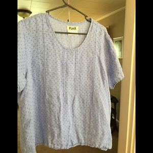 Flax Blue Top, Large